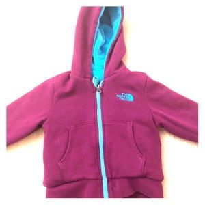 Toddler girl North Face Hoodie